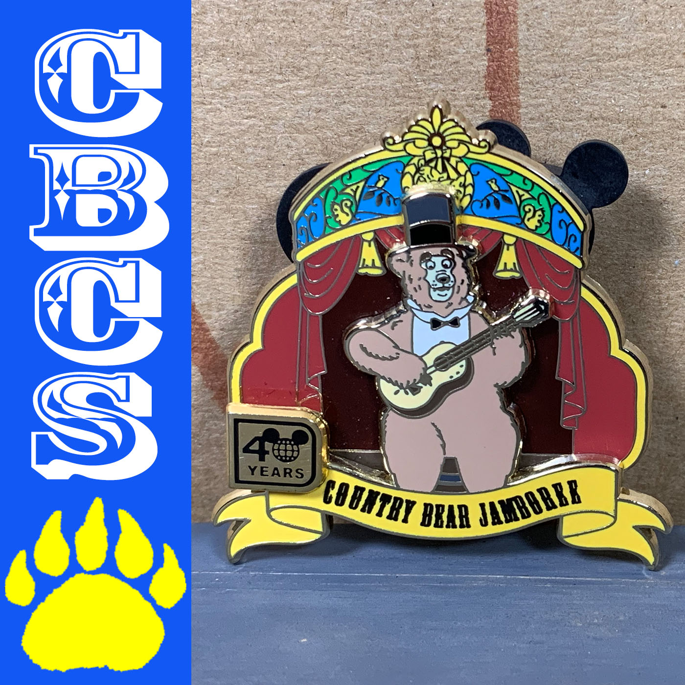 Artwork for 2011 Walt Disney World 40th Anniversary Country Bear Pin - Country Bear Collector Show #189