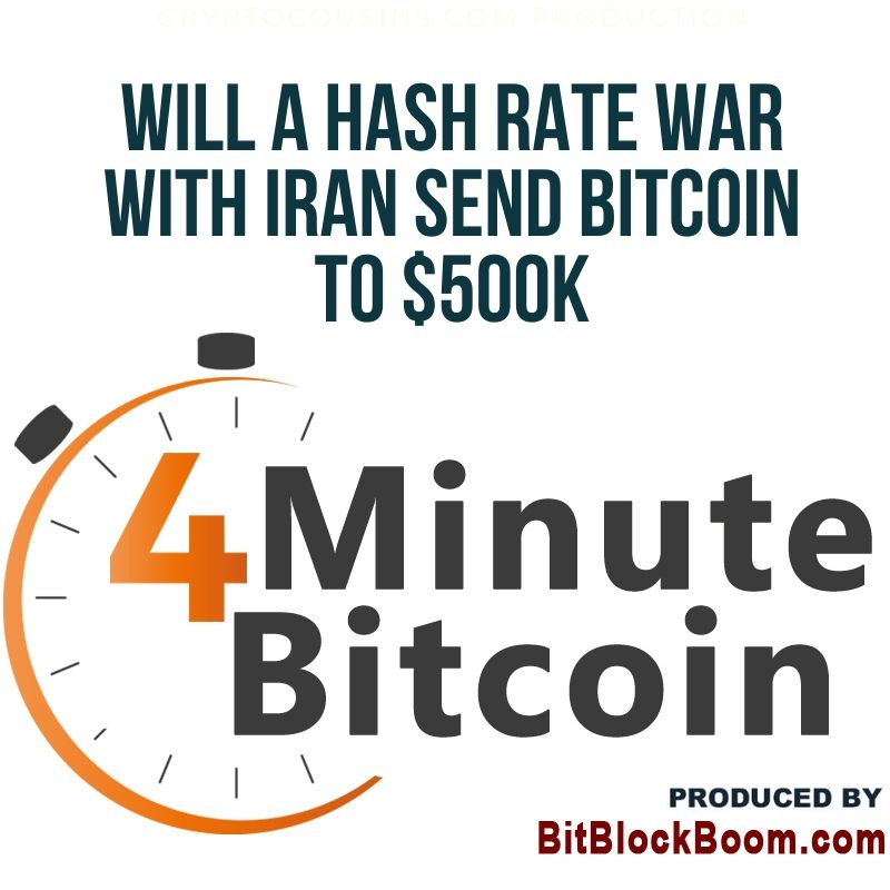 Hash Rate War With Iran Can Send Bitcoin to $500K