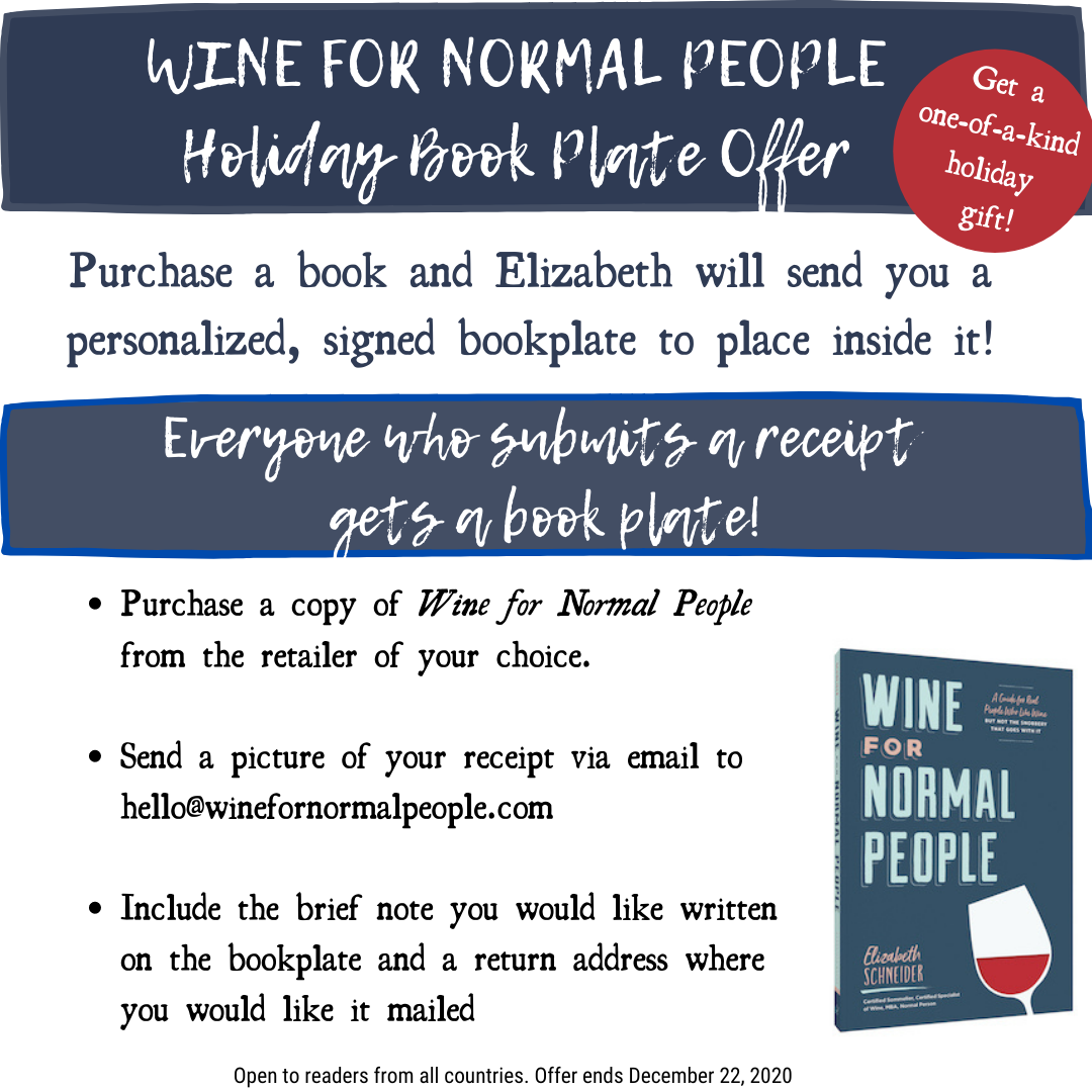 Wine for Normal People Holiday Book Offer