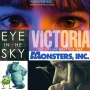 Artwork for Week 51: (Eye in the Sky (2015), Monsters, Inc. (2001), Victoria (2015))