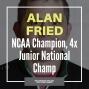 Artwork for Ohio wrestling legend Alan Fried