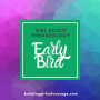 Artwork for Girl Scouts Phraseology: Early Bird, Spring Reg, Early Reg, Spring Renewal...