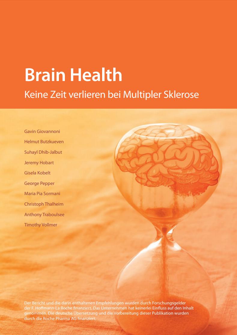 """Brain Health Cover vom Bericht """"Keine Zeit verlieren bei Multipler Sklerose"""""""