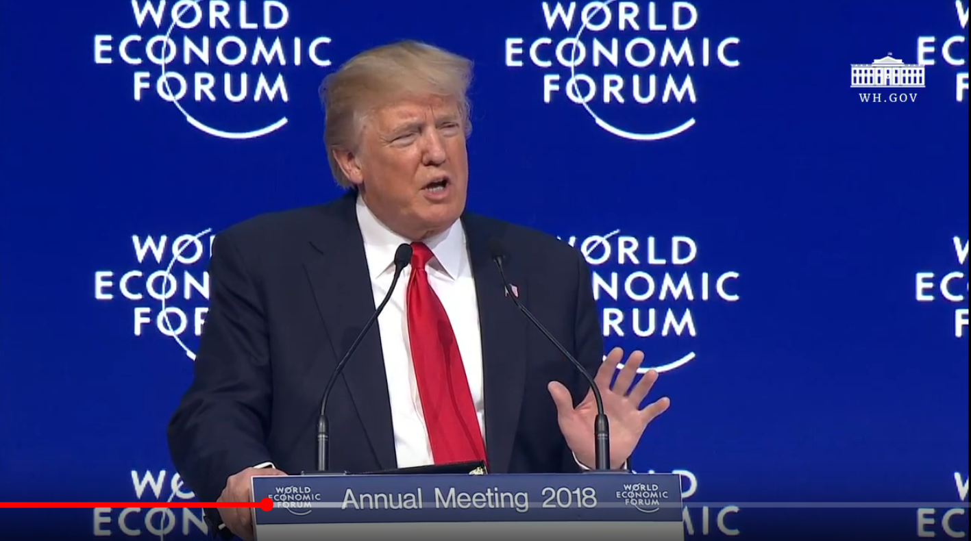 President Trump in Davos Switzerland