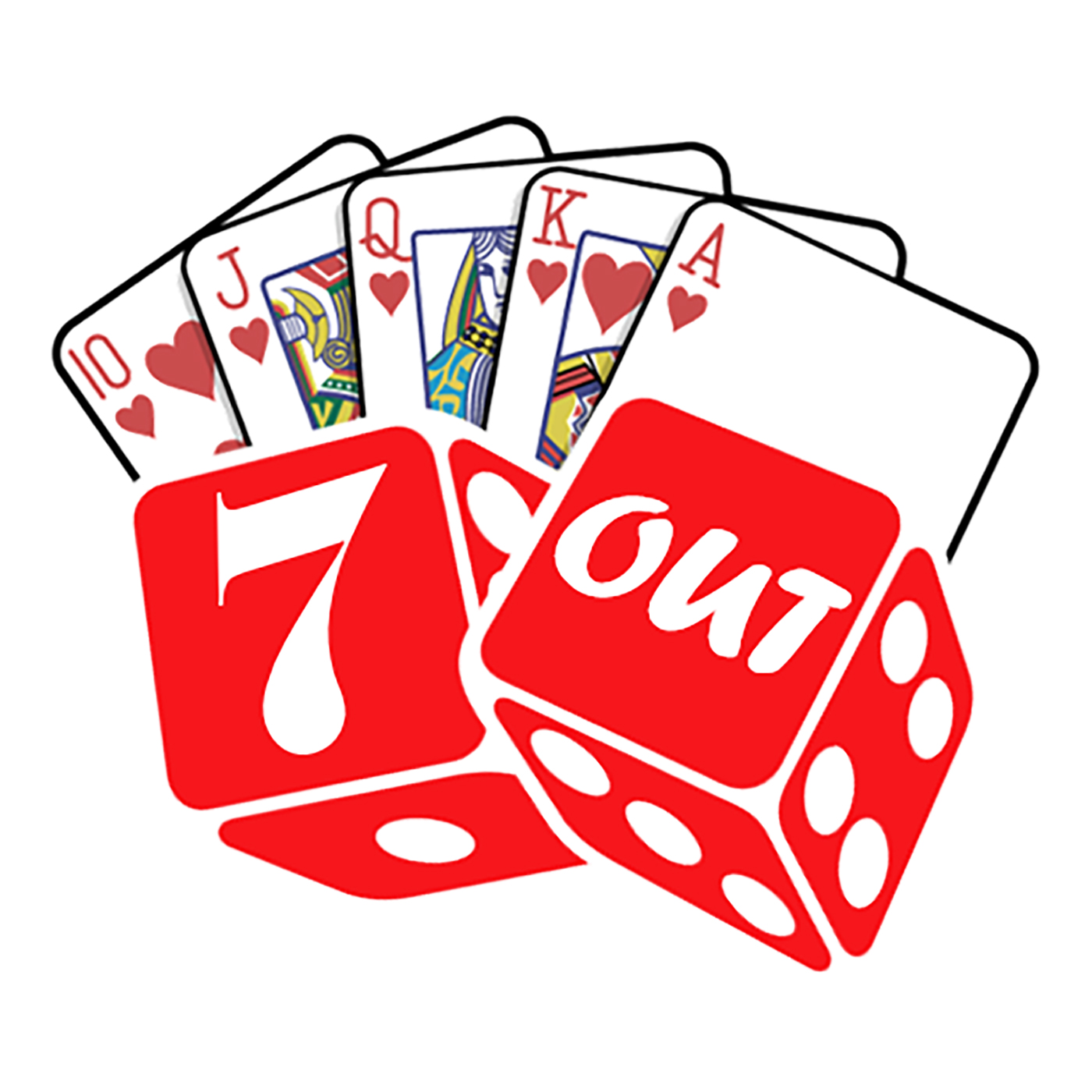 Seven Out Gambling, Poker and Casino Podcast show art