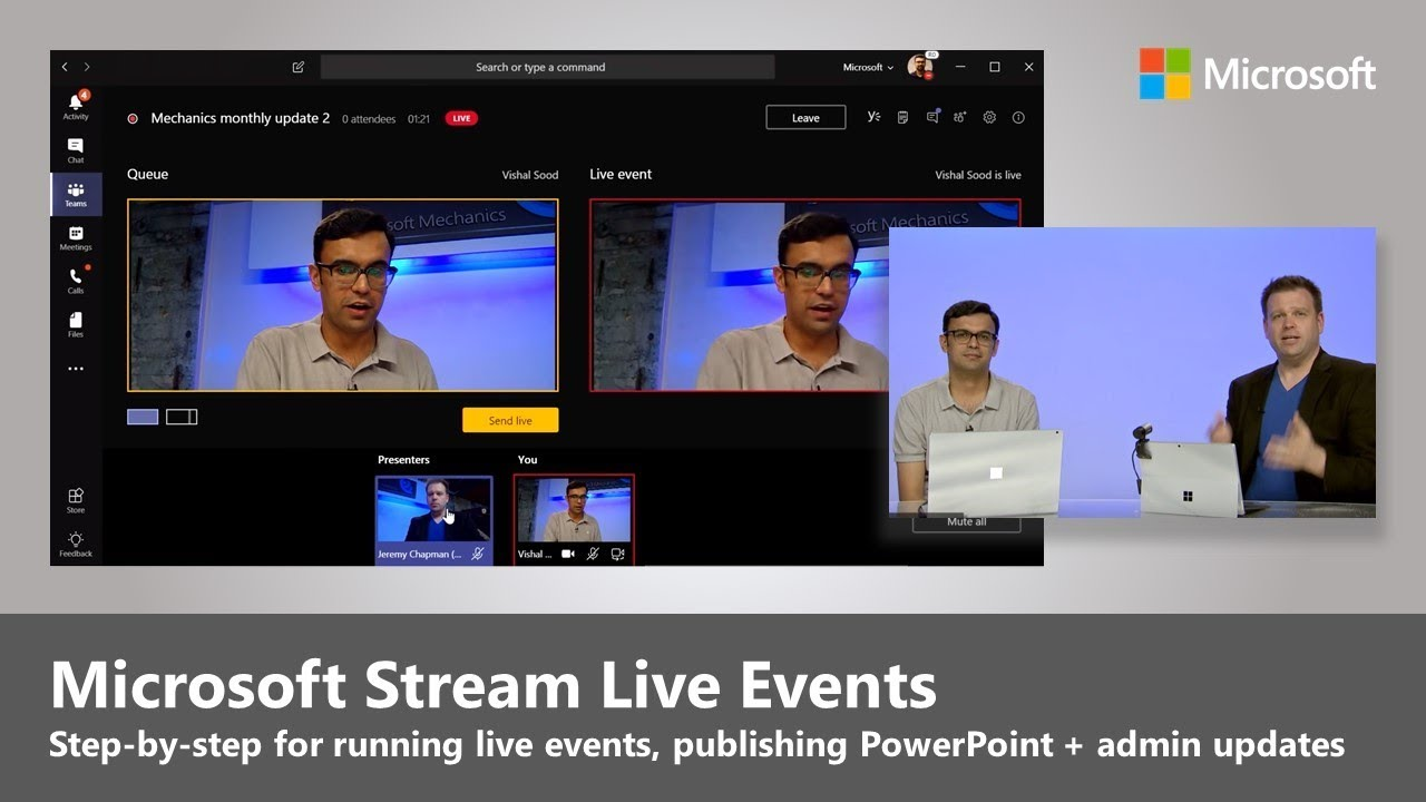 Artwork for Introducing Live Events in Microsoft Stream