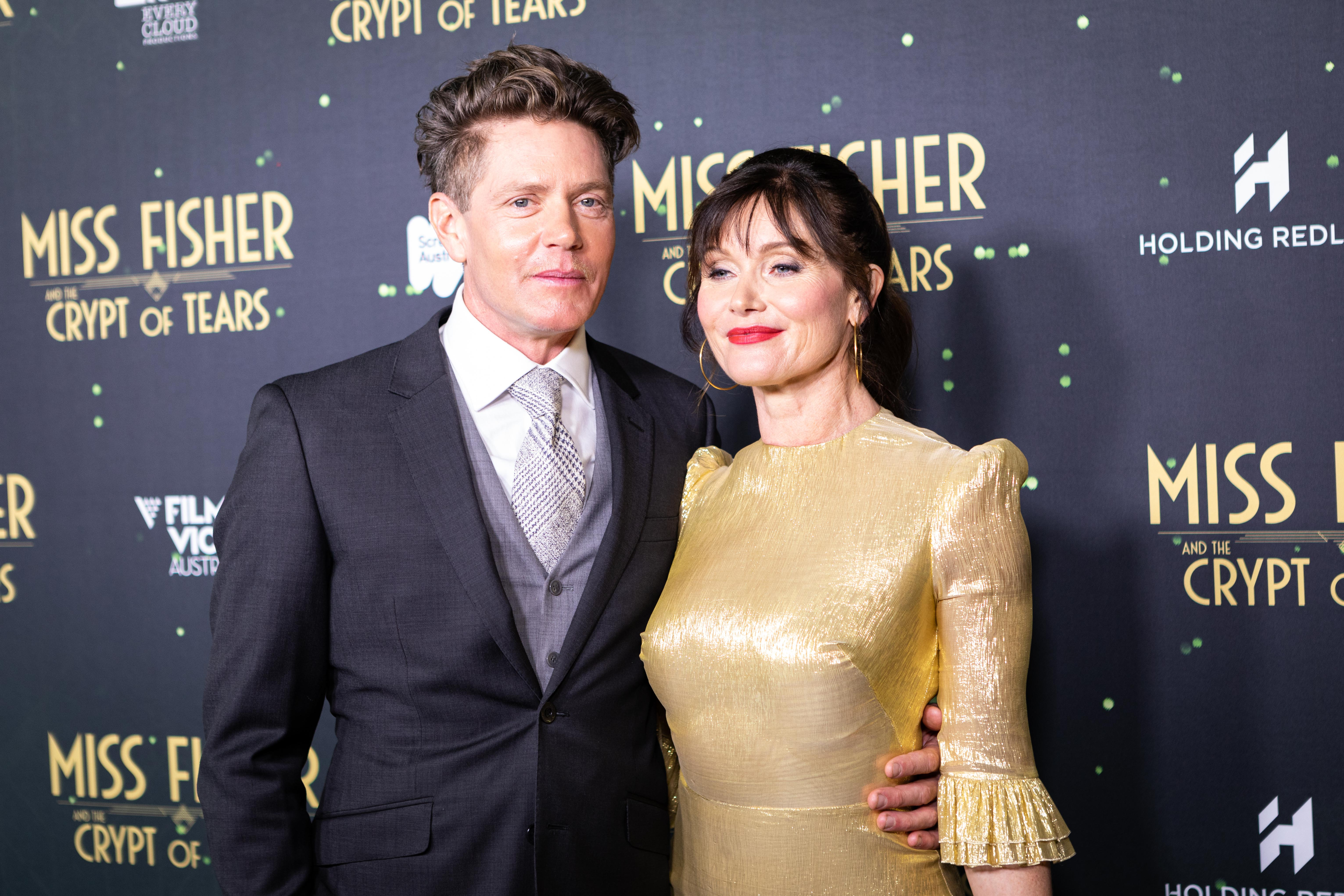 Miss Fisher and the Crypt of Tears stars Essie Davis and Nathan Page at the Melbourne premiere screening