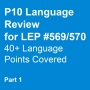 Artwork for P10 (Part 1) Language Review for LEP 569&570 With Zdenek Lukas