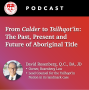 Artwork for From Calder to Tsilhqot'in: The Past, Present and Future of Aboriginal Title