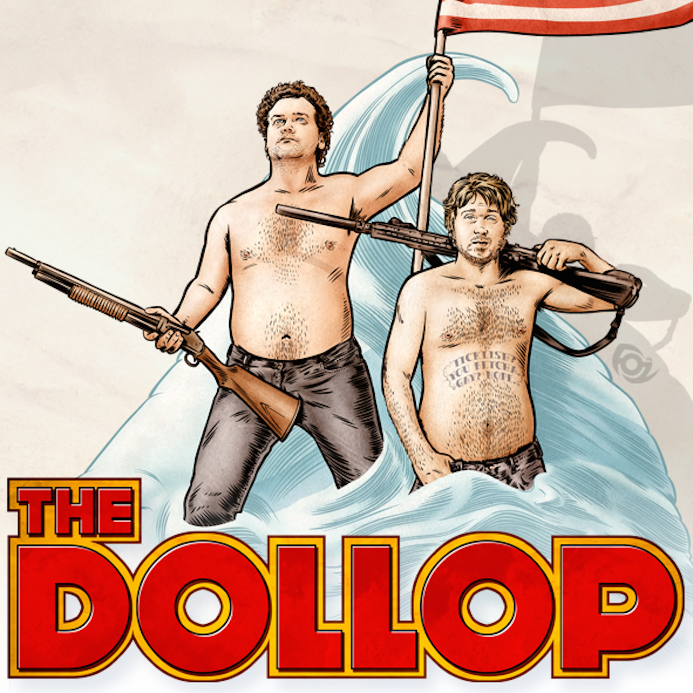 The Dollop with Dave Anthony and Gareth Reynolds show art
