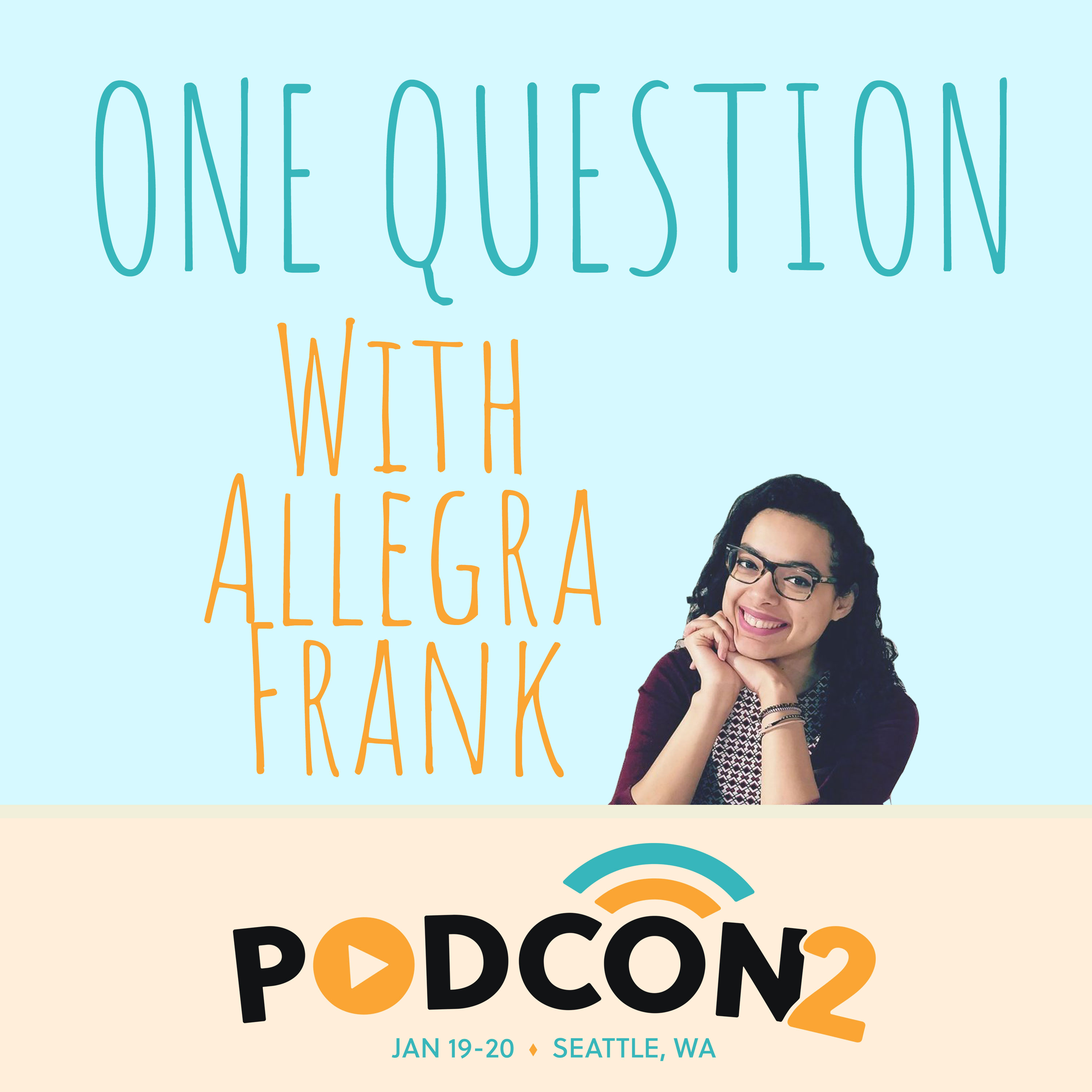 One Question, With Allegra Frank show art
