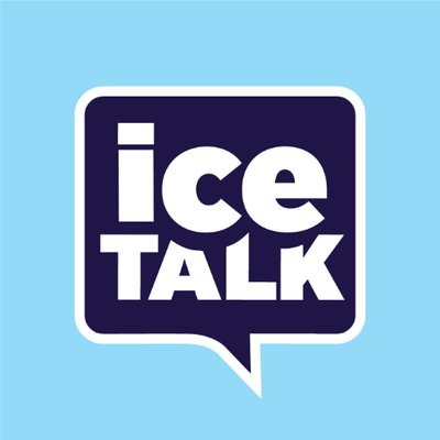 Artwork for ice talk with Timothy Goebel and Andrea Joyce