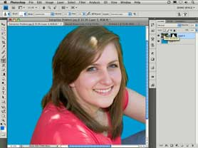 Masking hair in Photoshop CS4