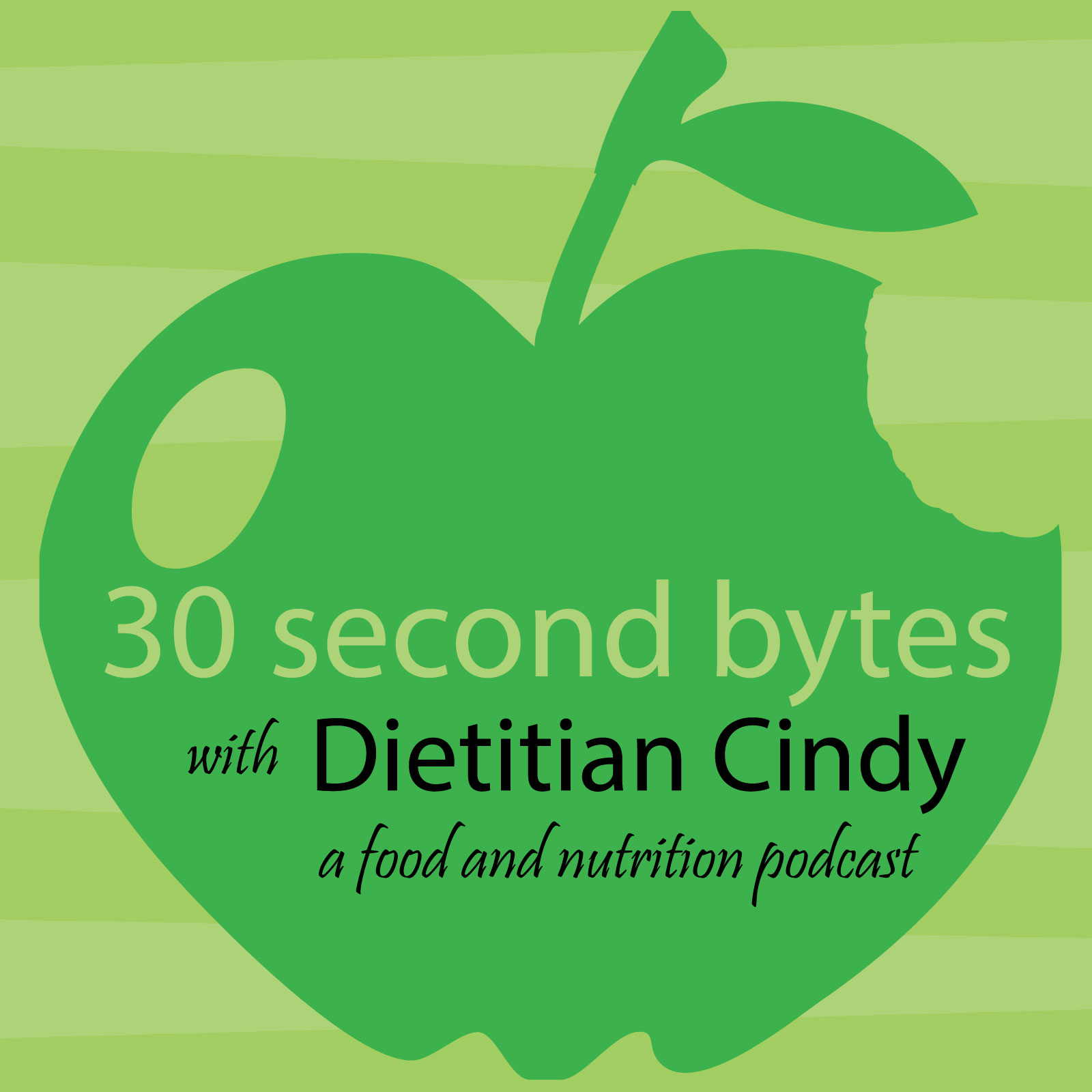 30 Second Bytes with Dietitian Cindy show art