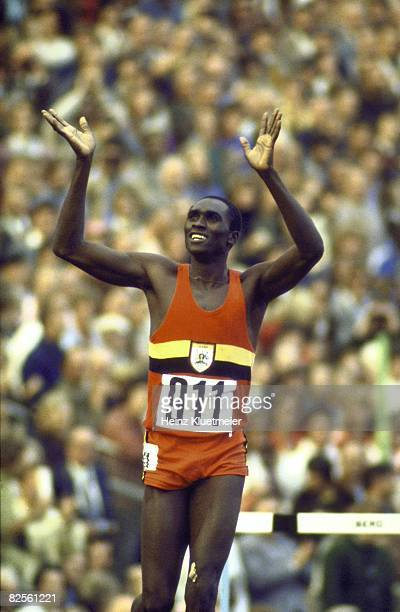 Munich1972:  the olympic births of  John Akii Bua, Uganda and the tradition of the lap of honor.