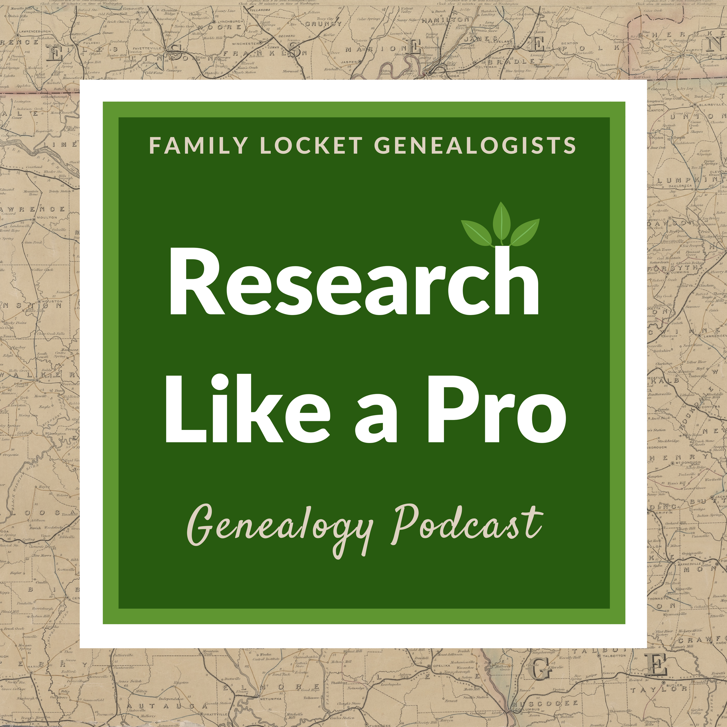 The Research Like a Pro Genealogy Podcast show art