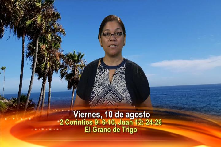 Artwork for Dios te Habla con Angela Valencia;  Tema el hoy: El grano de trigo. Fiesta de San Lorenzo, diácono y mártir.