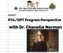Artwork for Chanelle Norman- PTA/DPT Program Perspective