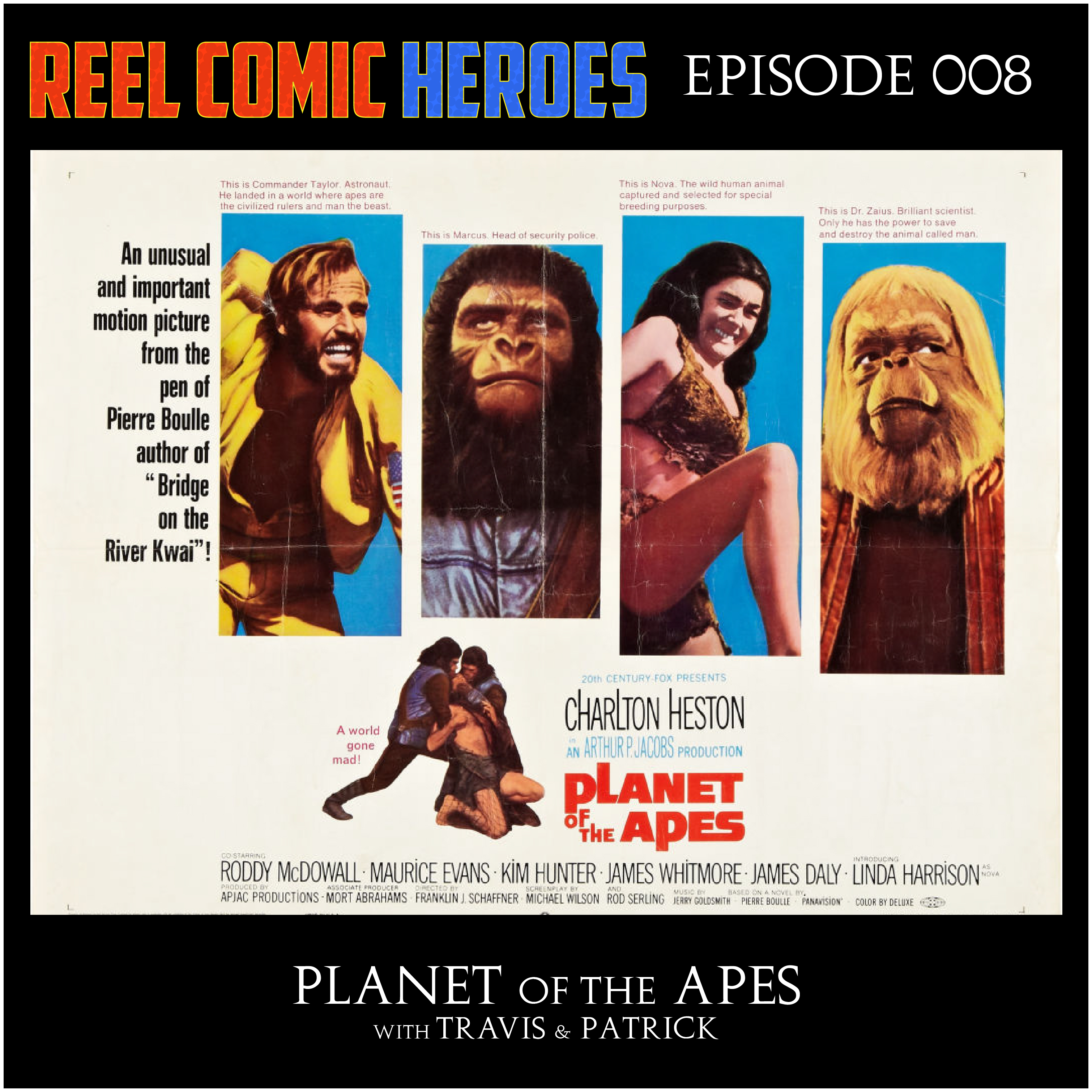 Artwork for Reel Comic Heroes 008 - Planet of the Apes