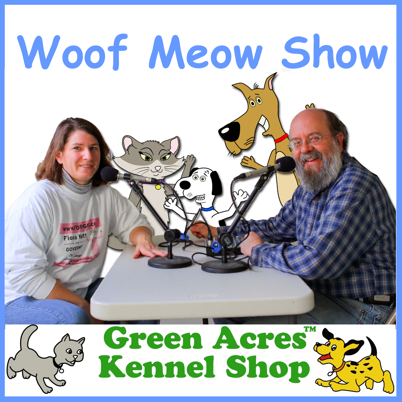 The Woof Meow Show show art