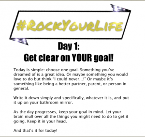 #RockYourLife Day 1!