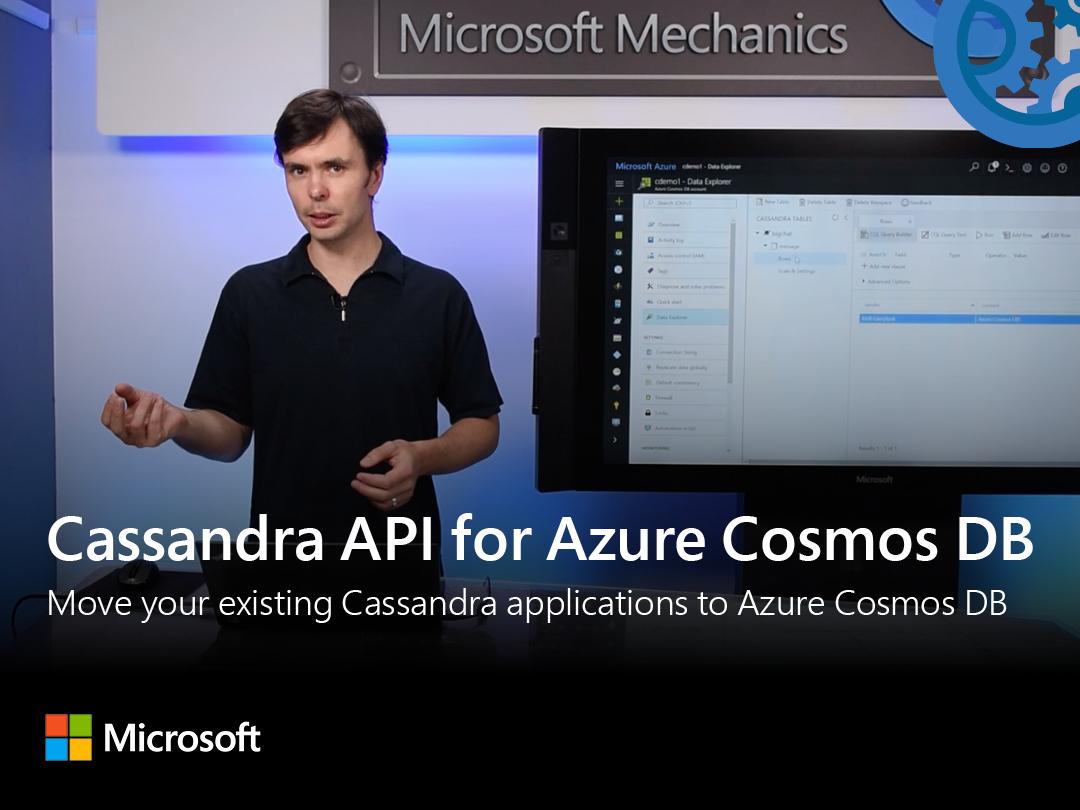 Artwork for New Cassandra API for Azure Cosmos DB