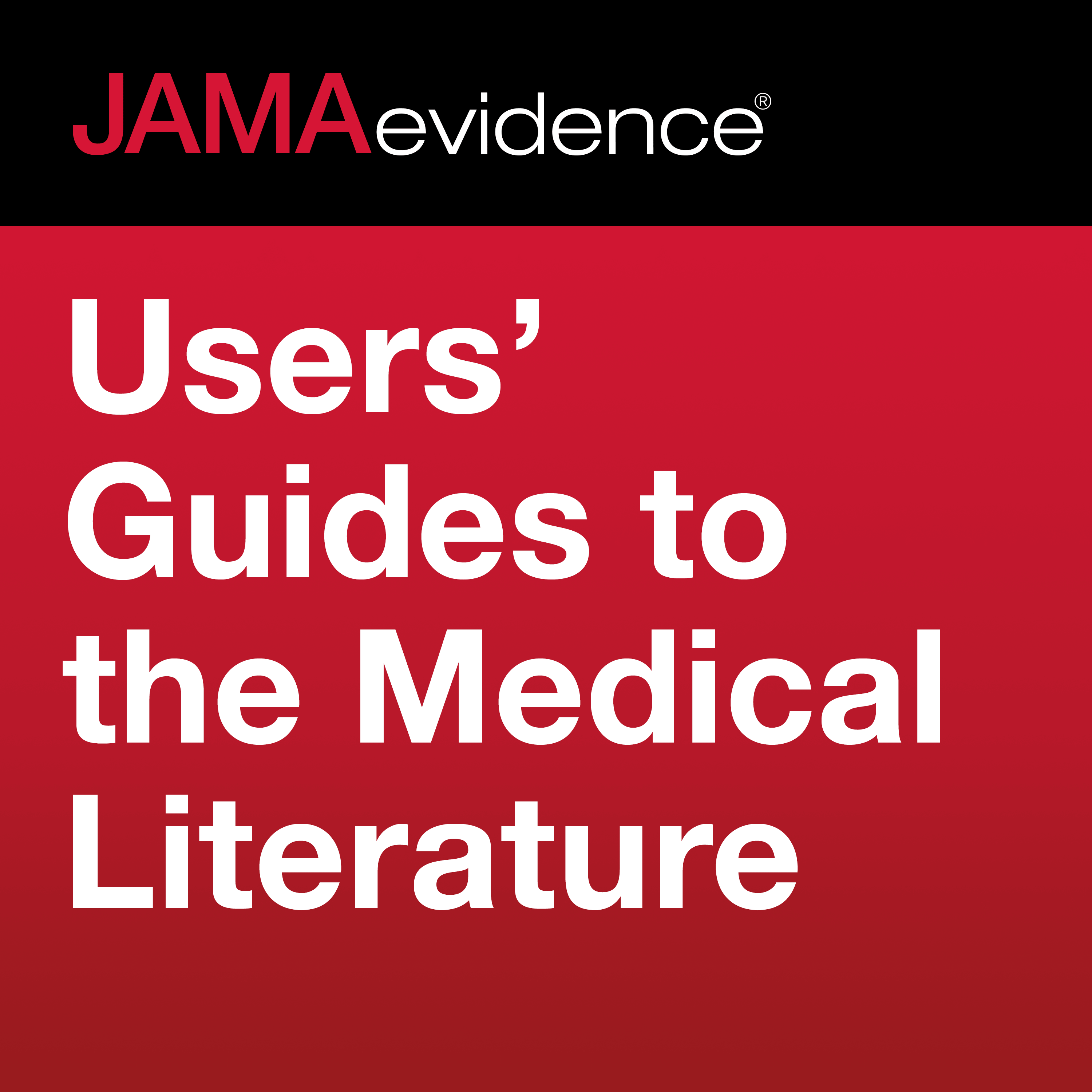 JAMAevidence Users' Guides to the Medical Literature show art
