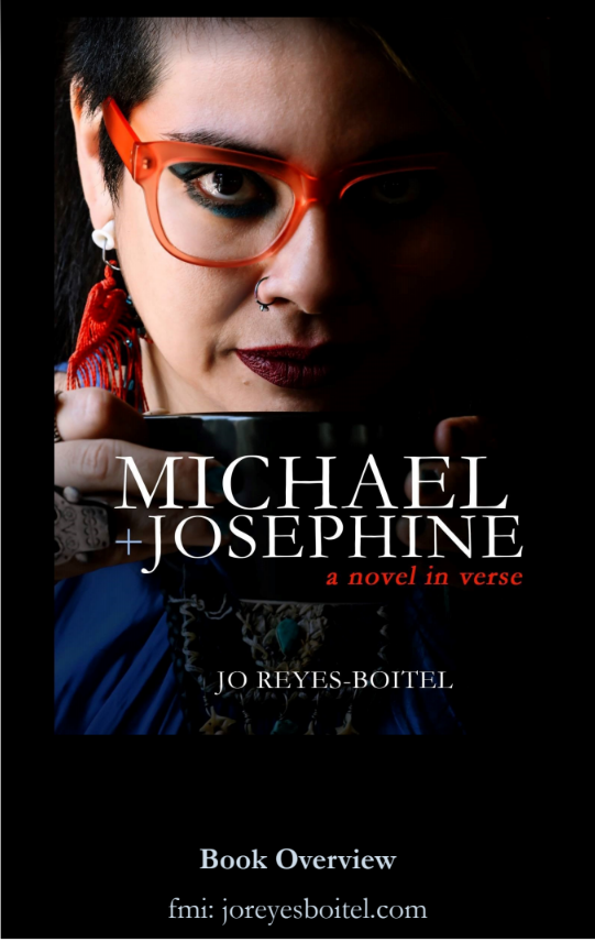 "Jo Reyes-Boitel's book cover of ""Michael + Josephine"""