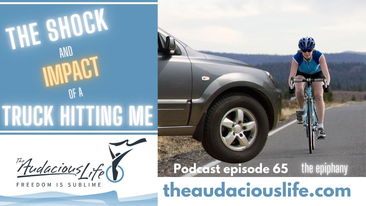 The shock and impact of an SUV driving into me