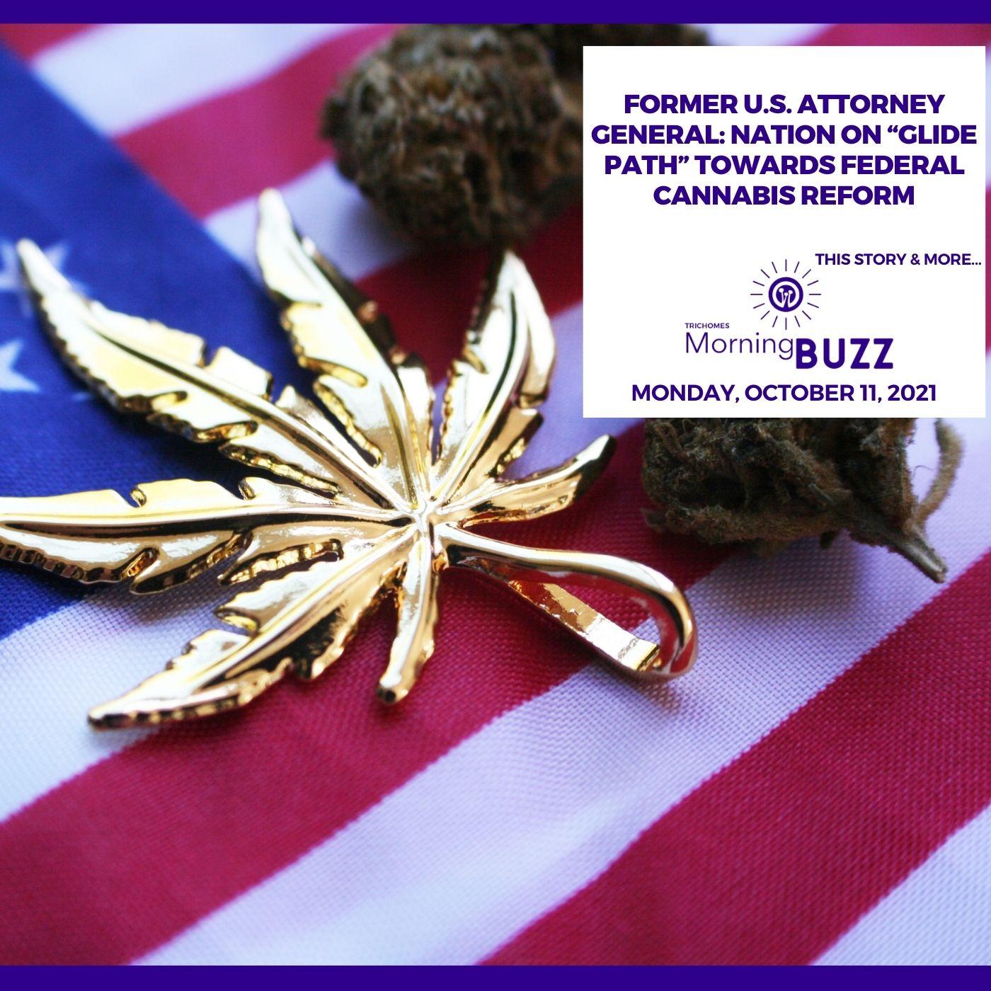 "Former U.S. Attorney General: Nation On ""Glide Path"" Towards Federal Cannabis Reform show art"