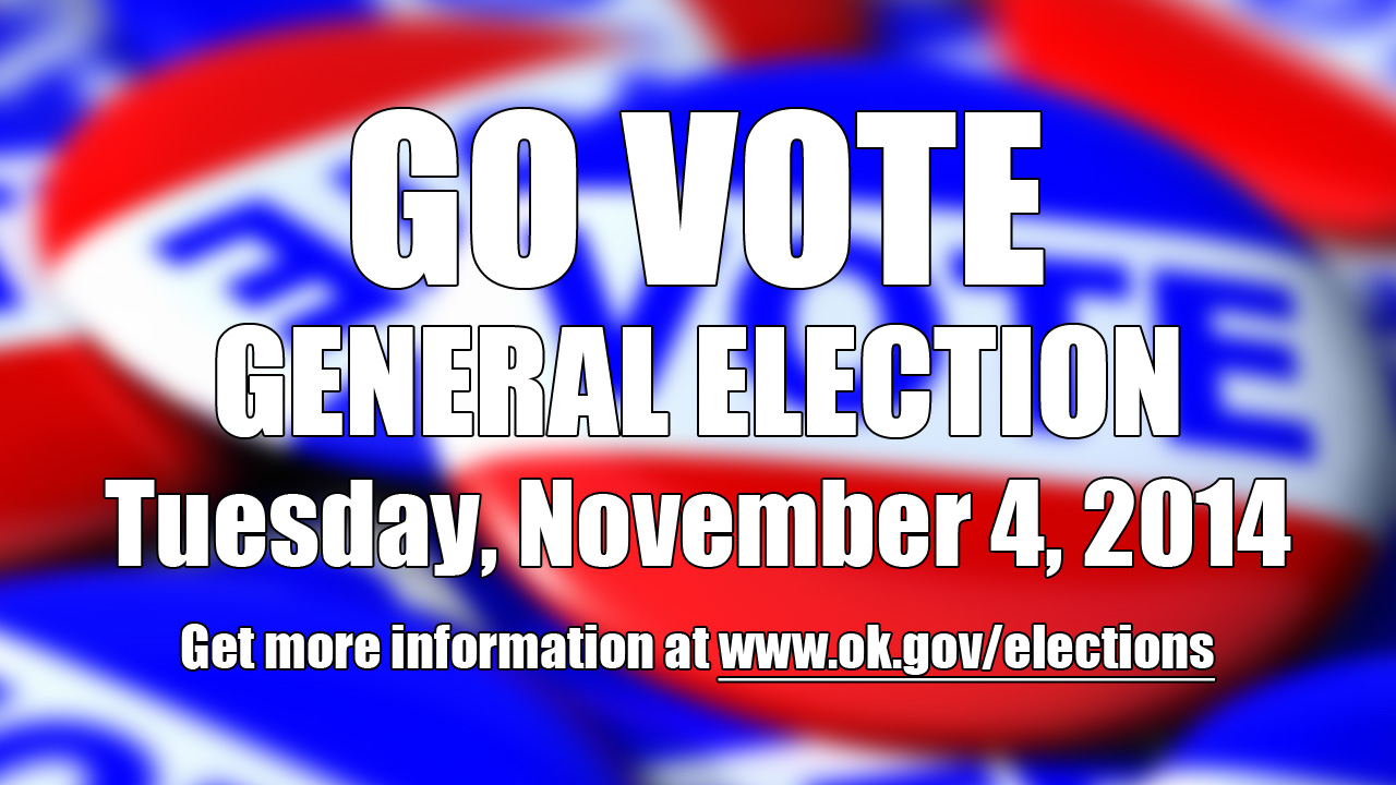 Artwork for Oklahoma General Election - Tuesday, November 4, 2014 - Go Vote