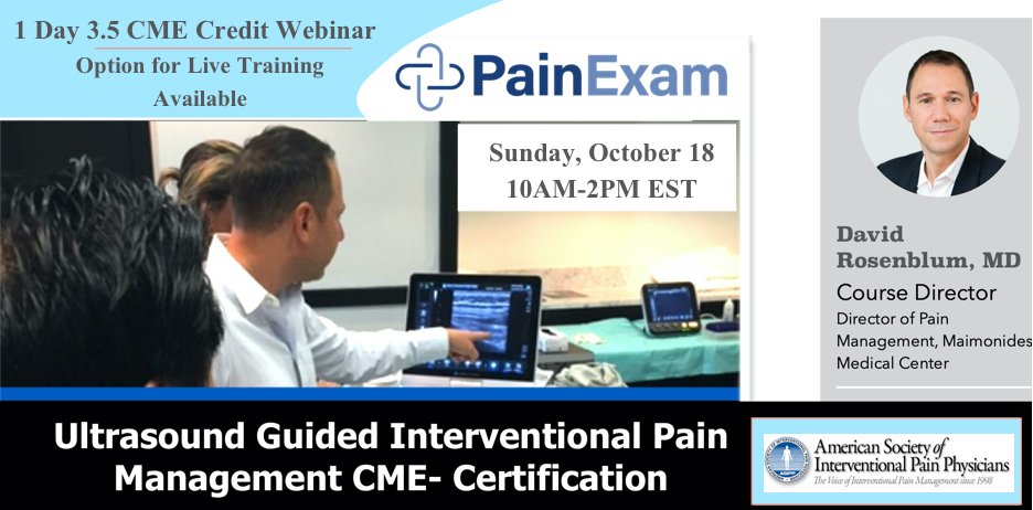 ULTRASOUND GUIDED INTERVENTIONAL PAIN MANAGEMENT COURSE