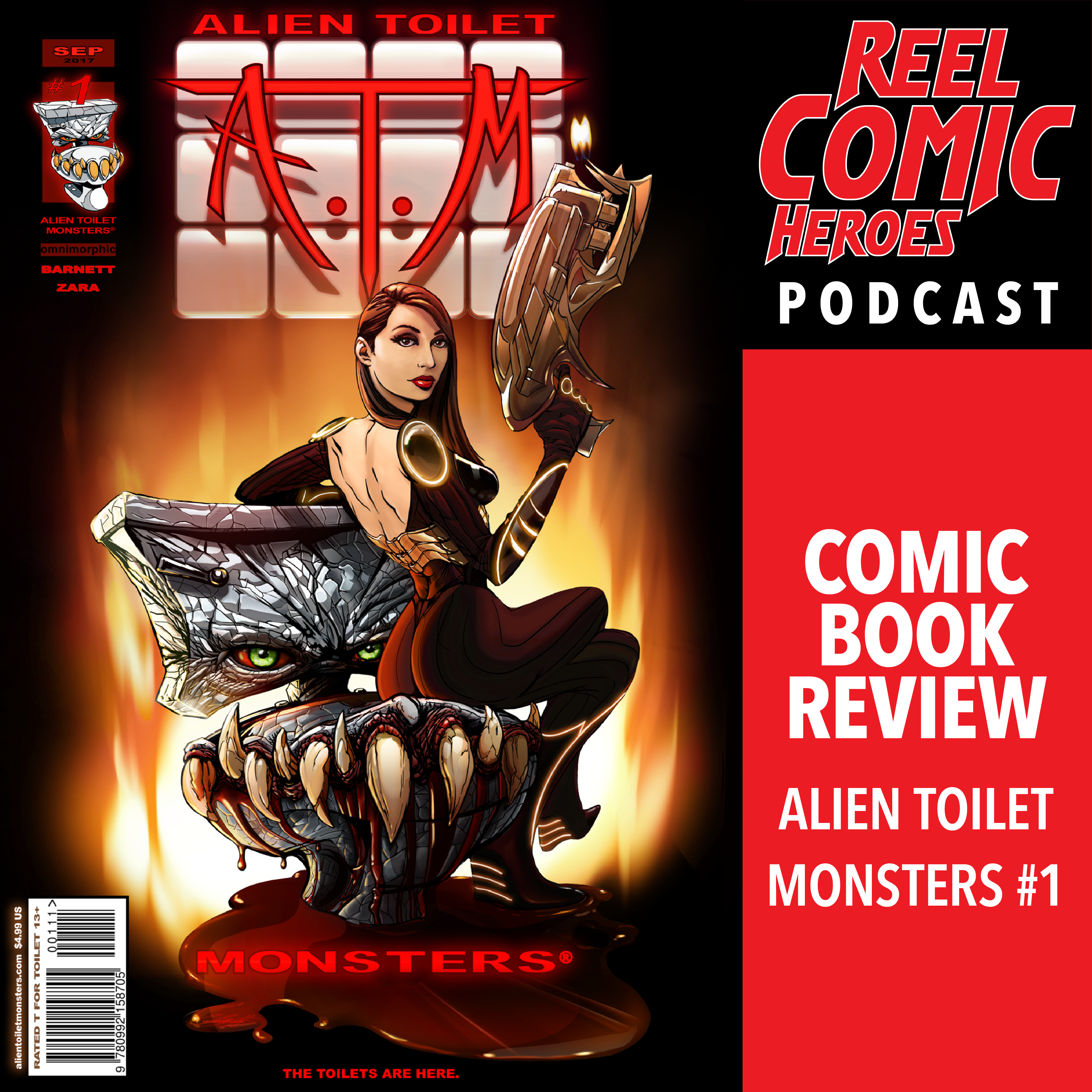 Artwork for Comic Book Review - Alien Toilet Monsters #1