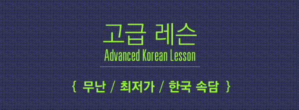Advanced Korean Lesson (고급 레슨) / 무난,최저가,한국 �담