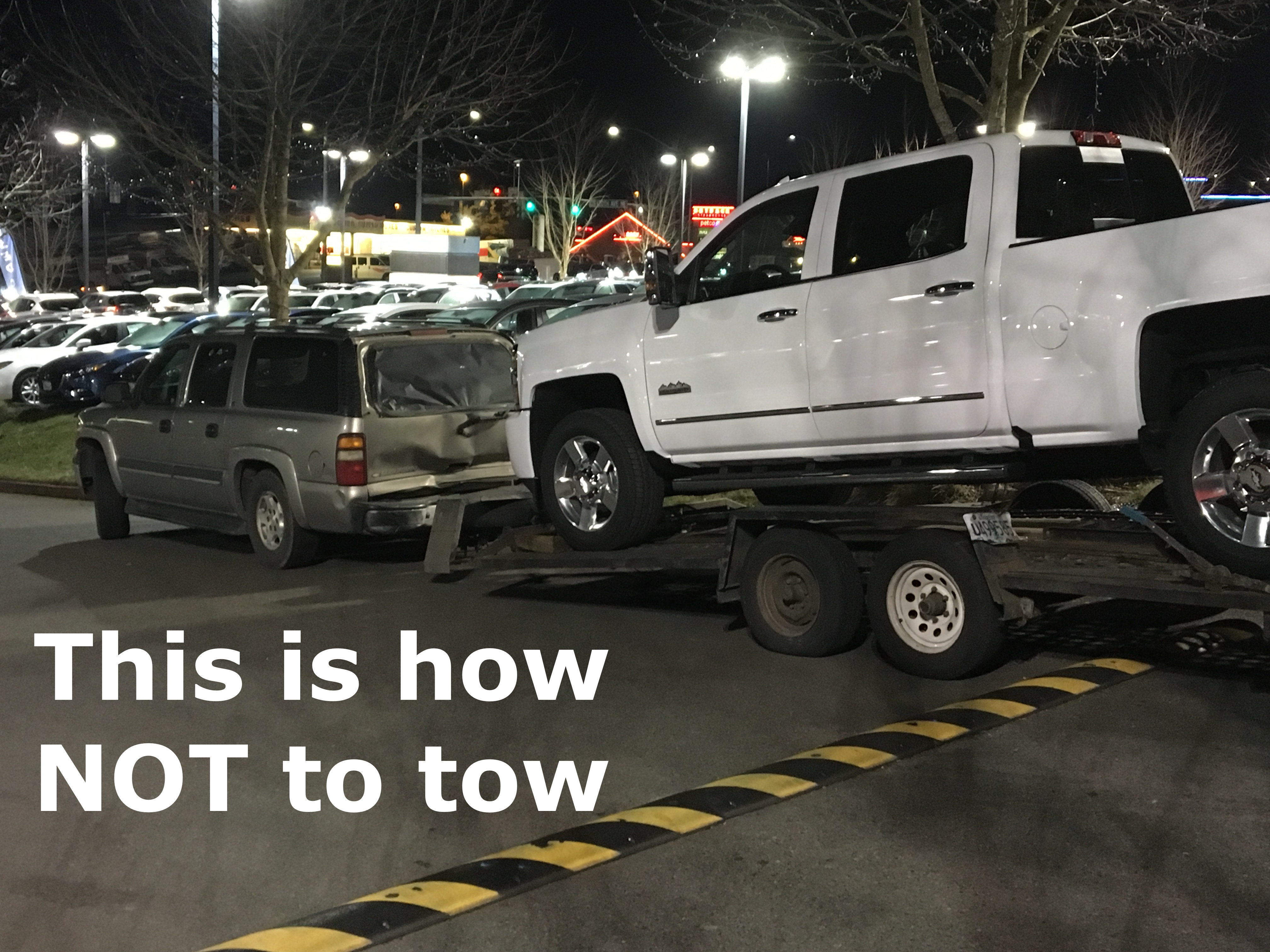 A tow rig NIGHTMARE