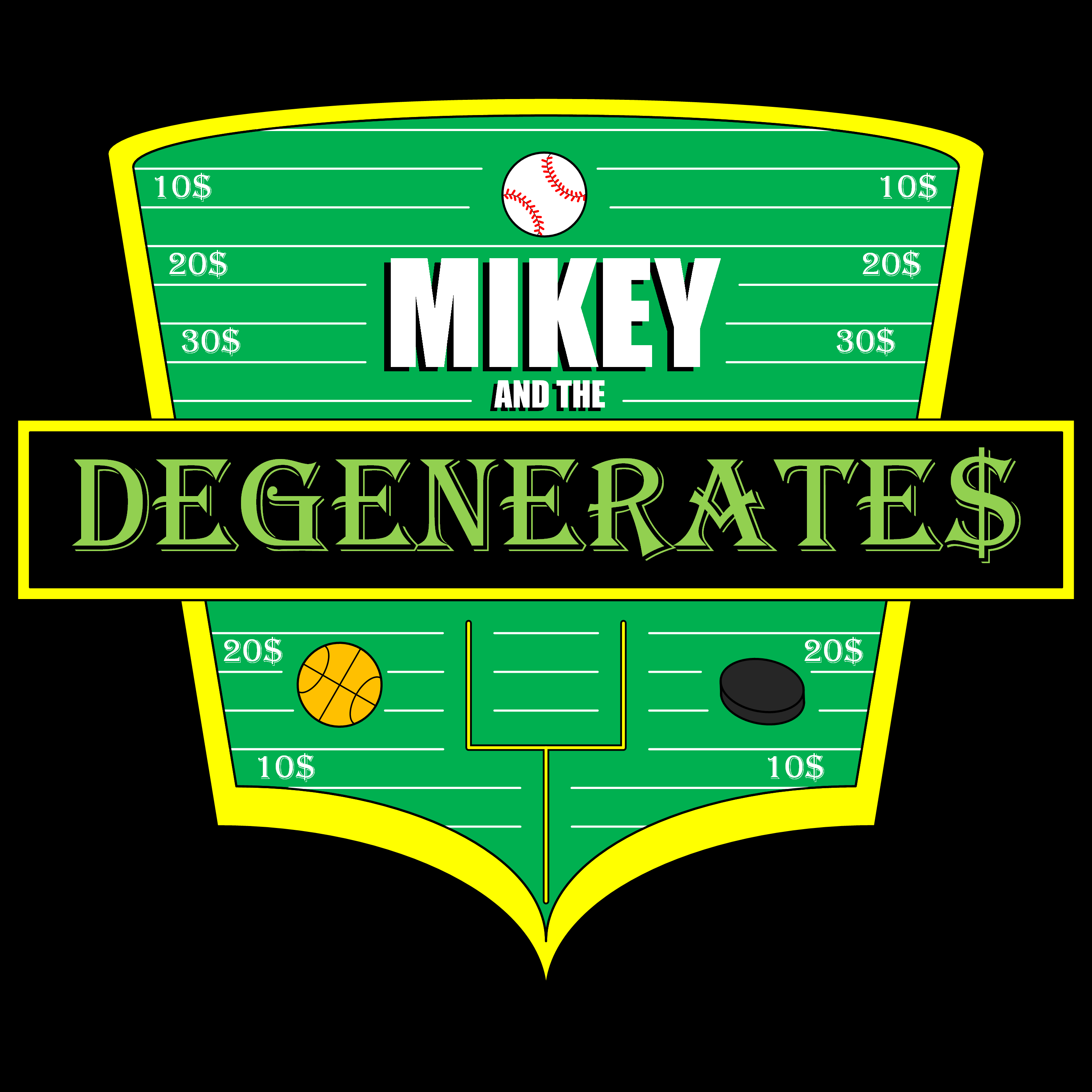 Mikey and the Degenerates EP. 22 w/ Wheelhouse Baseball show art