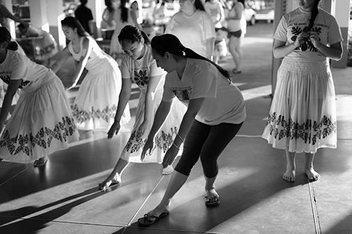 woman teaching hula