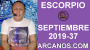 Artwork for HOROSCOPO ESCORPIO - Semana 2019-37 Del 8 al 14 de septiembre de 2019 - ARCANOS.COM...