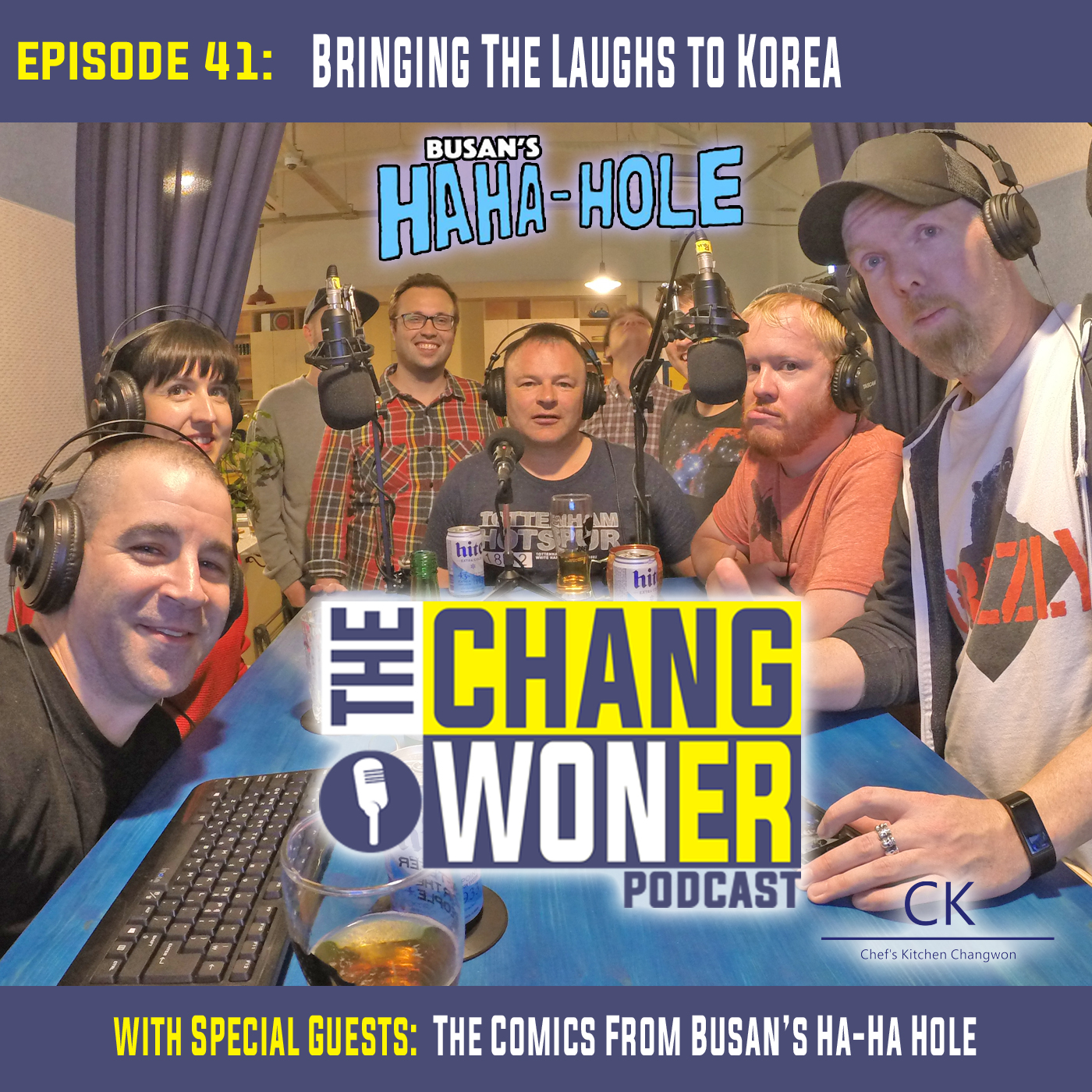Artwork for Stand-Up Comedy in South Korea. Comedy Night in Changwon! -guests Busan's Ha-Ha Hole (Ep 41)