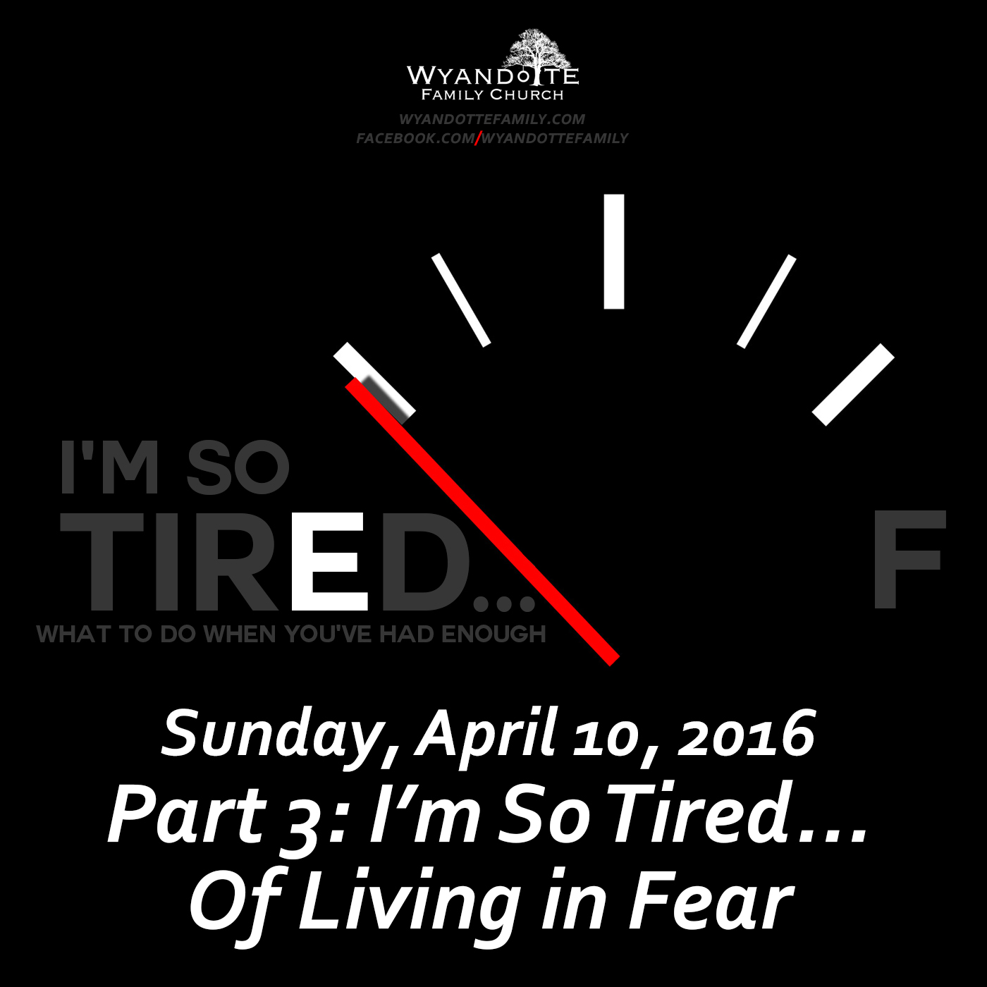 "I'm so Tired Part 3: ""I'm so Tired... of Living in Fear"""