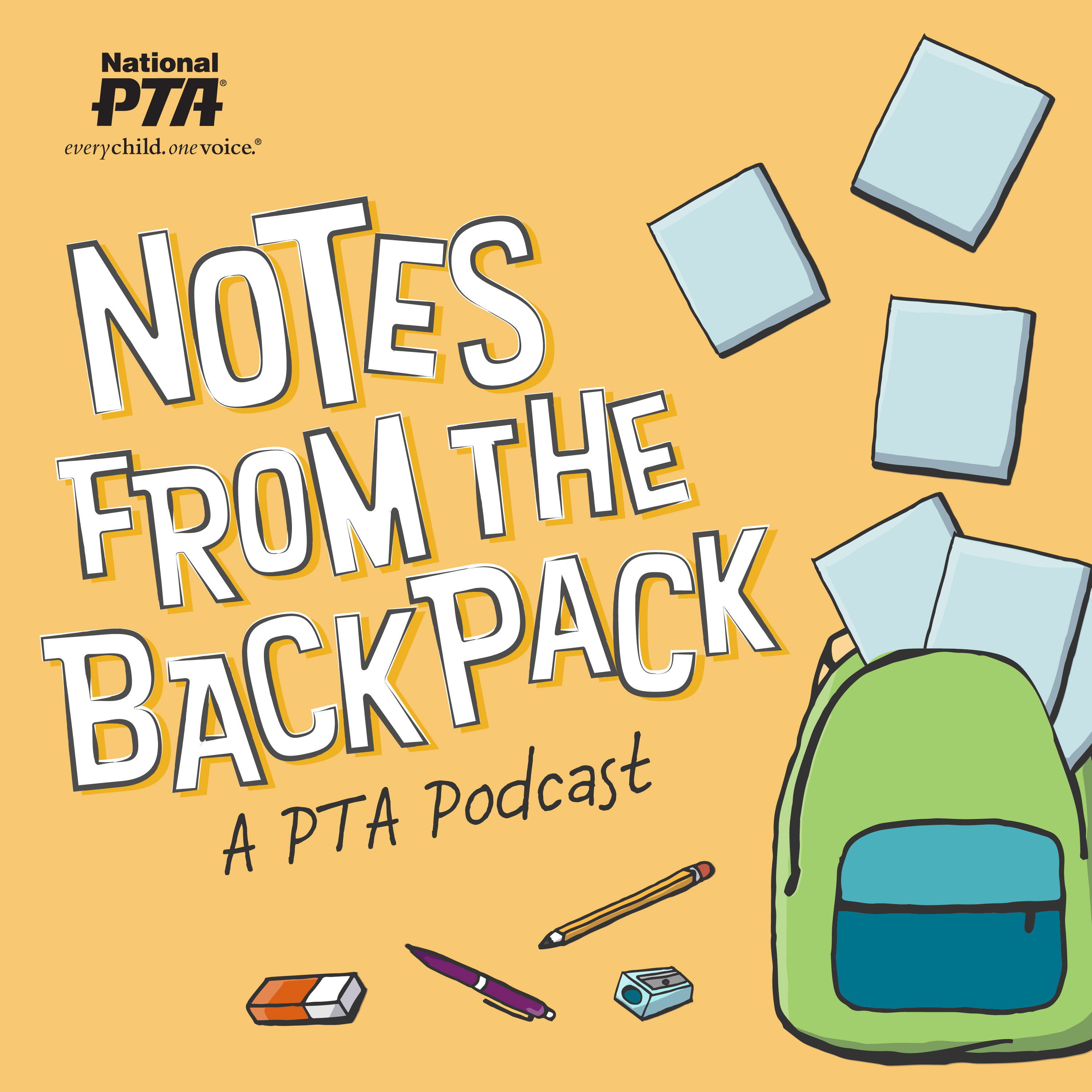 Notes from the Backpack: A PTA Podcast show art