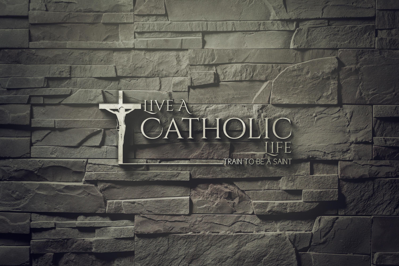 Live a Catholic life podcast show art