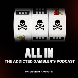 The 'All In: The Addicted Gambler's podcast' logo