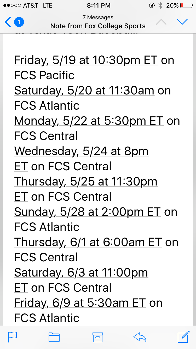 Air dates for Team Luke documentary