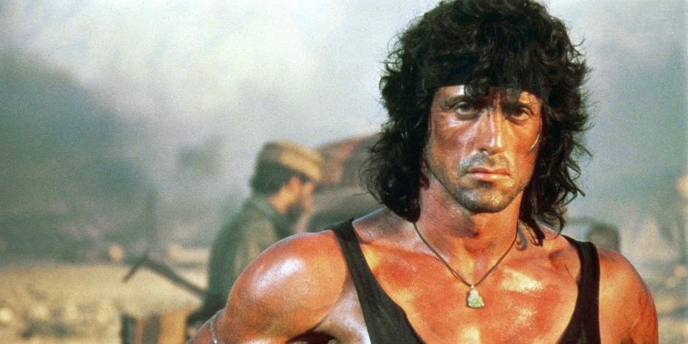 Stallone Rambo 1980s Film Review podcast
