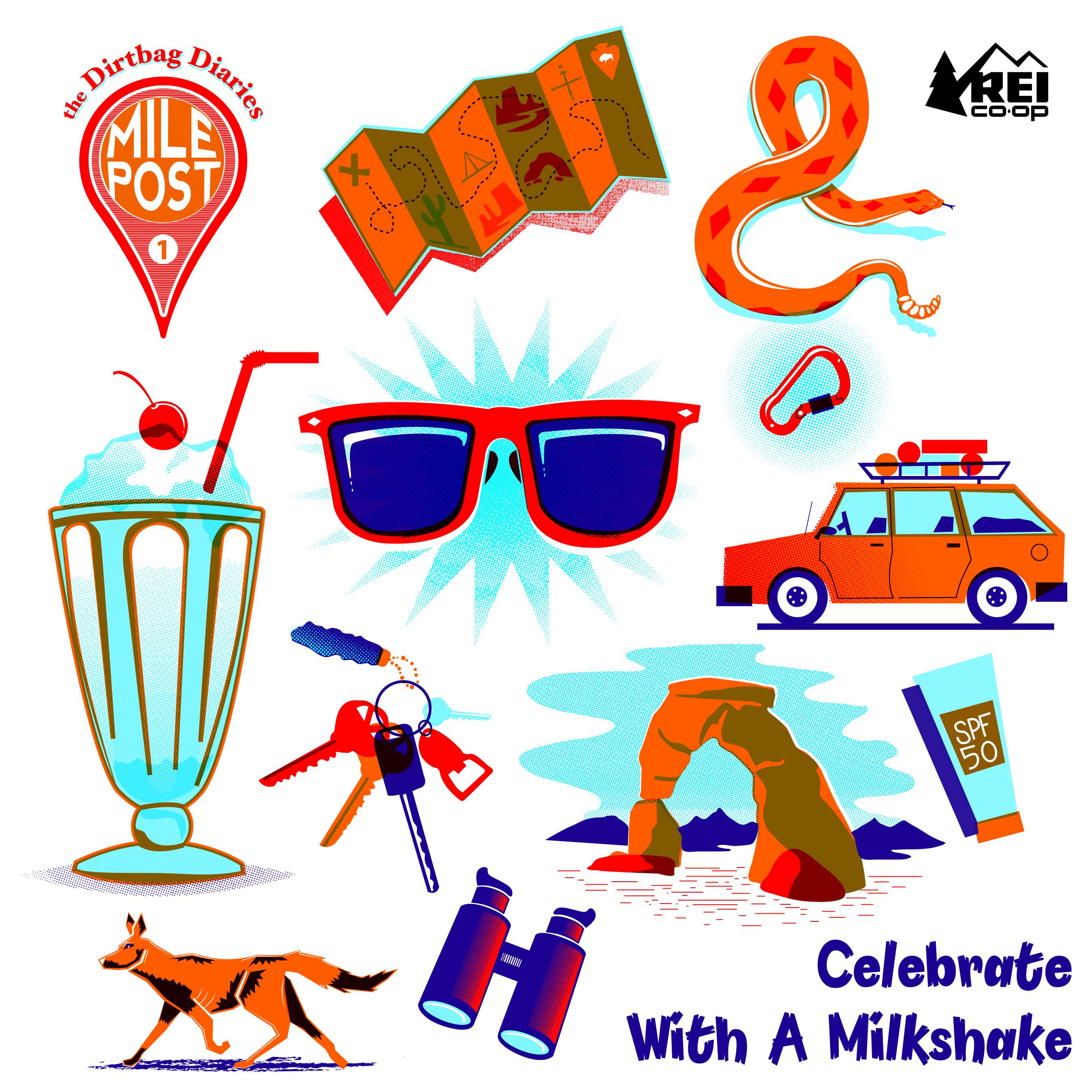 Mileposts--Celebrate with a Milkshake