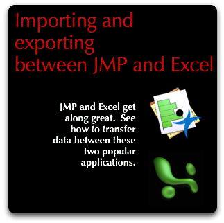 JMP: Transferring data between JMP & Excel