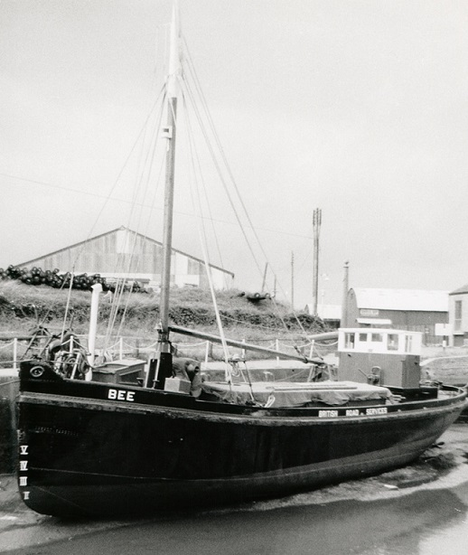The Bee in Newport Harbour, Isle of Wight, at low tide, after a repaint in 1961, WW2 podcast