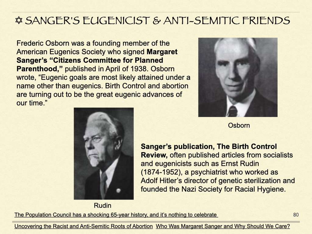Sanger's Eugenicist & Anti-Semitic Friends