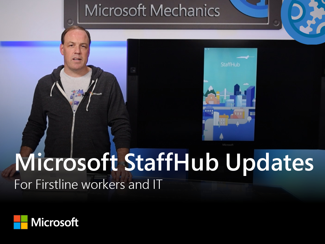 Artwork for Updates to Microsoft StaffHub for Firstline workers & IT